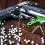 Airsoft Pistol with Glasses and BBs