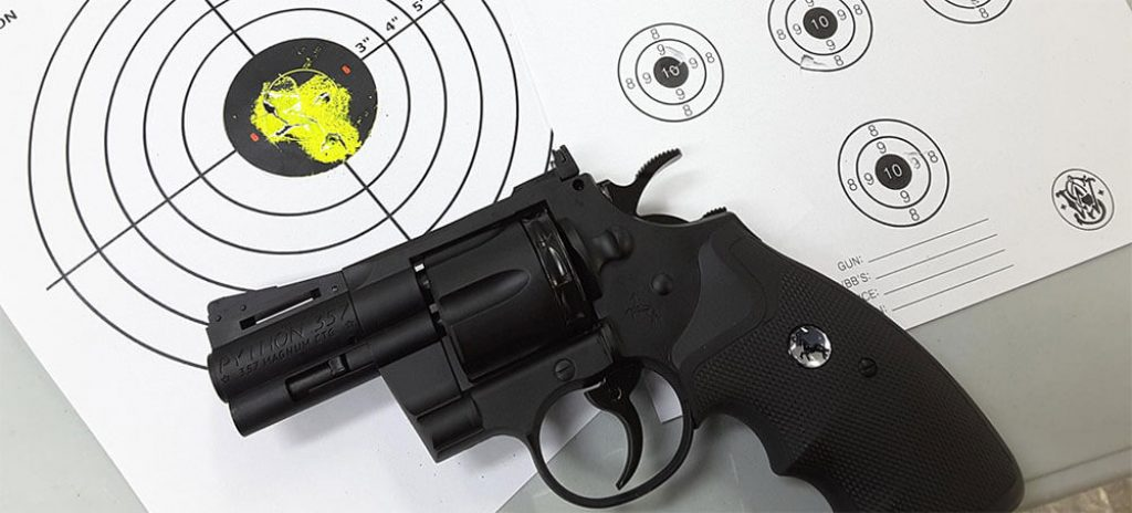 Possibly the Best Airsoft Revolver - Colt Python 2.5inch and Plinking Target
