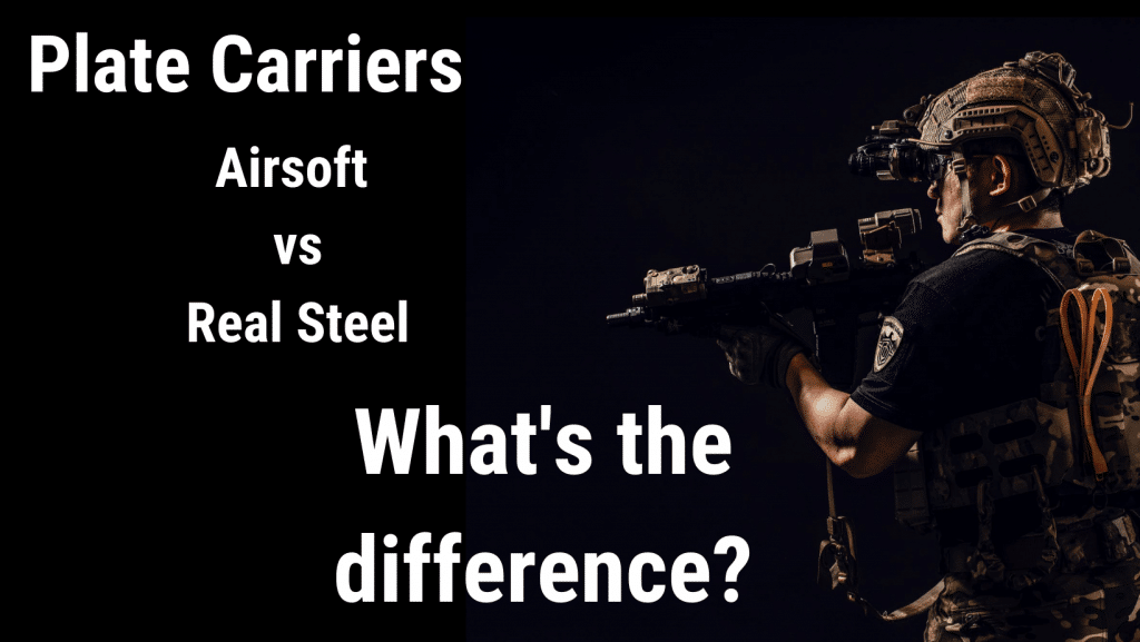hero image for airsoft vs real steel plate carriers