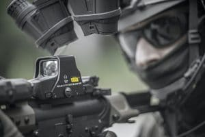 airsoft player up close