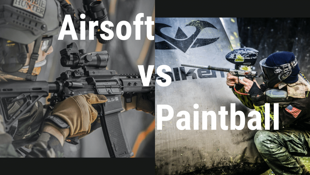 airsoft vs paintball what is the difference? Header image for blog