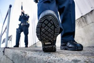 black boots typically worn by tactical officers